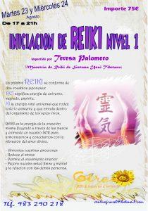 Reiki nivel 1 agosto 2016